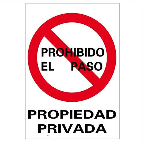 RD40025 - Señal Propiedad Privada PVC Glasspack 0,7 mm 21x30 cm con CTE, RIPCI Nueva Legislación