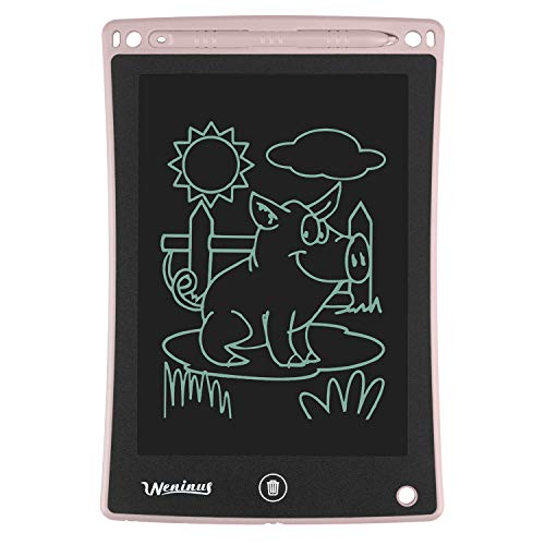LCD Writing Tablet, 85 Inches Electronic Doodle Pads, Kids Digital Drawing Tablet, Writing Board/Handwriting Pad Gifts for Kids and Adults at Home School and Office Pink