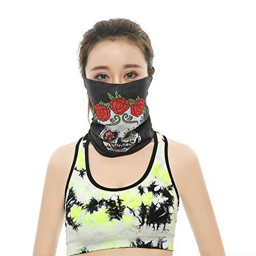 Shangrui Packung gedruckt Bandanas Multifunktionstuch Rohr Kopfbedeckungen Bandana Schal Elastische Halstücher für Yoga, Wandern, Reiten, Motorradfahren