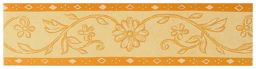 A.S. Création Bordüre, floral, mediterran, terracotta, 524133