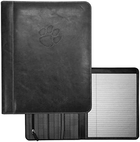 Carolina Sewn Clemson University Tigers Padholder Black Genuine Leather Padfolio product image
