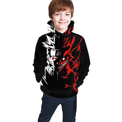 Bargburm Children's Uzumaki Naruto Shippuden Kakashi Pullover Hoodie Pocket Sweatshirt for Boys/Girls/Teen/Kid's Gifts
