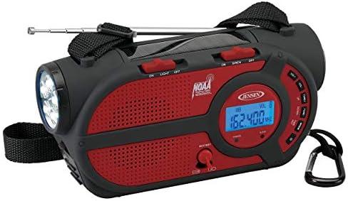Jensen JEP 650R 4 Way Powered Emergency Crank Weather Alert Radio 2000mAh Solar Hand Crank Portable product image