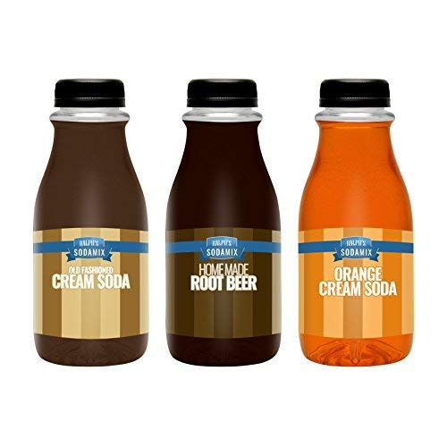Ralph's 3 Sparkling Water Flavoring Sodamix Pack | Cream Soda | Root Beer | Orange Cream Soda | Three 12oz Bottles