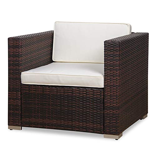 SVITA Sessel für Polyrattan Lounge Lugano/California Ergänzung Rattan (Braun)