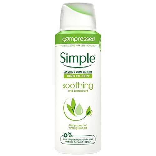 Simple Soothing Anti-perspirant Deodorant Aerosol 125 ml(pack of 6)