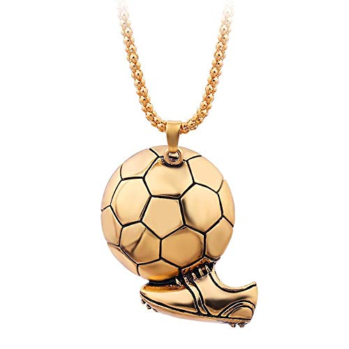 Halskette Fußball Schuh Sneaker Anhänger Halskette Fußball Legierung Ball Schmuck Link Kette Für Männer Sport Mode Charme Geschenk Gold