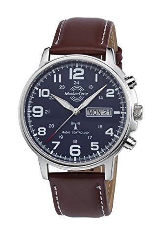 Master Time Funk Quarz Herren Uhr Analog mit Leder Armband MTGA-10621-20L