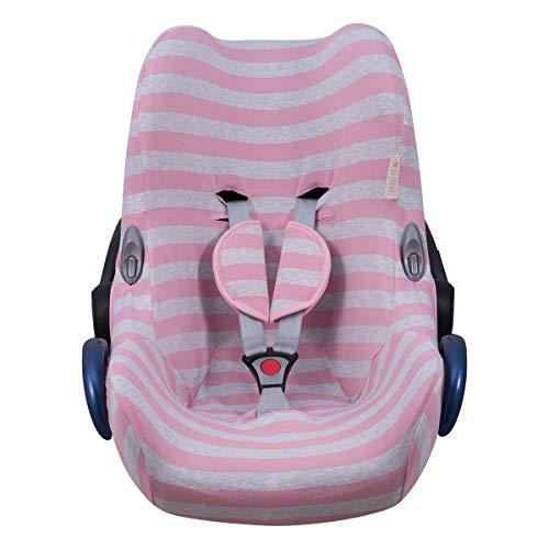 JANABEBE Funda compatible con Maxi Cosi Cabriofix, silla de coche gr 0 (Pink Island)