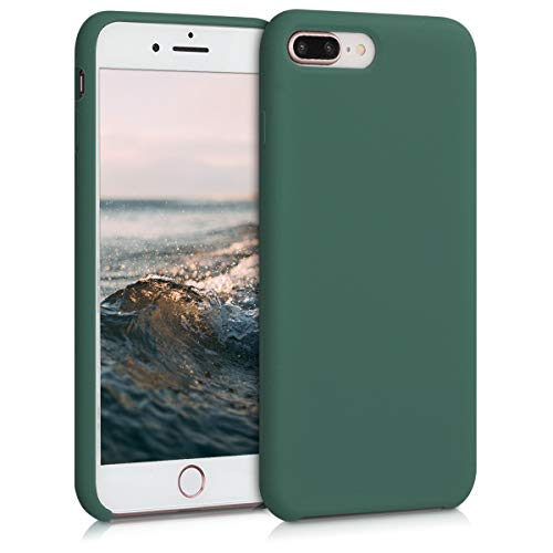 kwmobile Cover Compatibile con Apple iPhone 7 Plus / 8 Plus - Custodia in Silicone TPU - Back Case Protezione Cellulare Verde Militare
