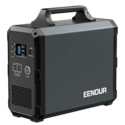 EENOUR ポータブル電源 EB180 超大容量 486000mAh /1800Wh 家庭用蓄電池 バックアップ電源 純正弦波 AC(1000W 瞬間最大2000W)/DC/USB出力 周波数50/60Hz切替 MPPT制御方式 パススルー充電 キャンプ
