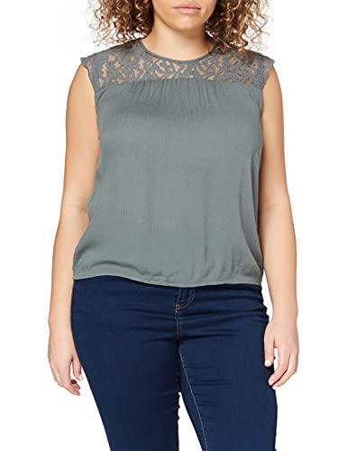 ONLY Damen Onlkarmen S/L WVN Noos Top, Grün (Balsam Green Balsam Green), (Herstellergröße:40.0)