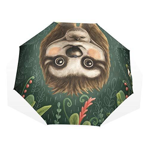 Paraplu jungle moeder en zon dier luier 3 vouwen lichte anti-UV