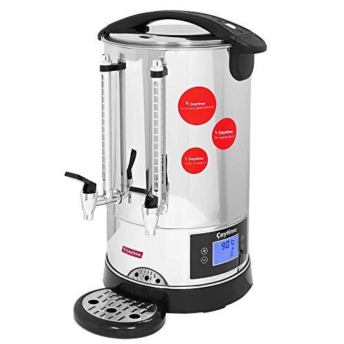Caytime Digitaler Teeautomat Teemaschine Samowar Teeautomat Teezubereiter Semaver Teekocher 10 L