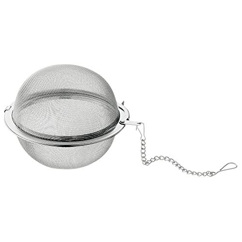 WMF Gourmet Teesieb 5,0 cm, Teekugel mit Kette, Teeei, Gewürzsieb, Gewürzei, Cromargan Edelstahl poliert, spülmaschinengeeignet