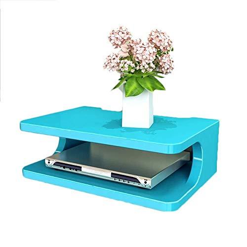 QTDH wandrek van hout, tv-kast, tv-console, router-dvd-rek, set-top box voor bagage, telefoon, box 30 x 20 x 10 cm