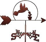 veletas de viento para jardin para tejado WeatherVane Acero inoxidable Clima Vane Figurine Práctico Viento Vane Herramientas de Medición Escena de la granja Hogar Outdoor Garden Artesanía Ornamento Di