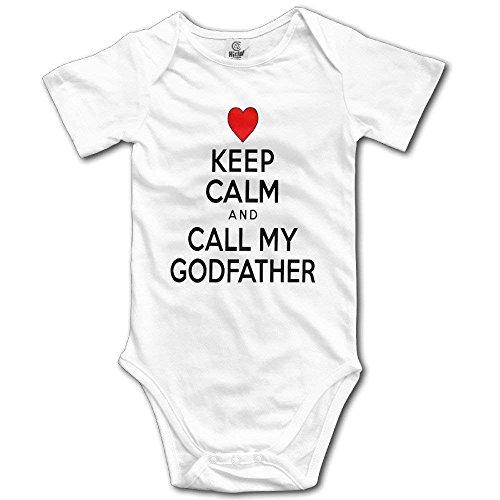 S5cms Organic Baby Onesies Unisex Bodysuits Baby Keep Calm Call Godfather Infant
