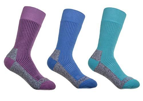 3 paires de chaussettes de marche Coolmax en coton pour femme