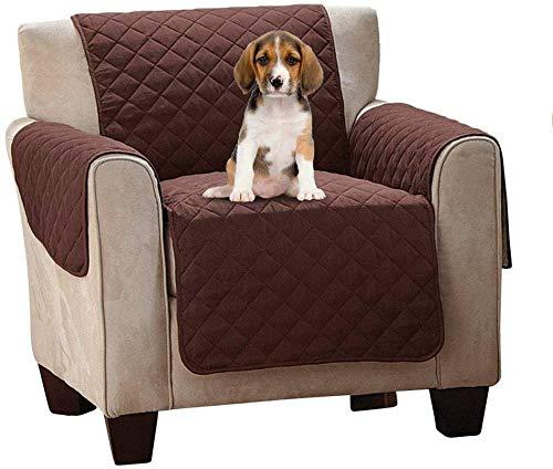 hitopseller Couch Coat - Funda para sofá de 1 Plaza Acolchada de Doble Cara con reposabrazos