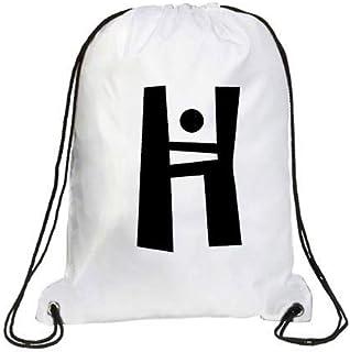 IMPRESS Drawstring Sports Backpack White with Joker Letter H