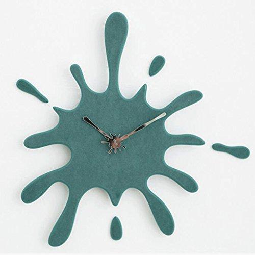 TXXM Kreative Moderne Wohnzimmer American Personality Home Stumme hängende Art Deco Uhr (Color : C)