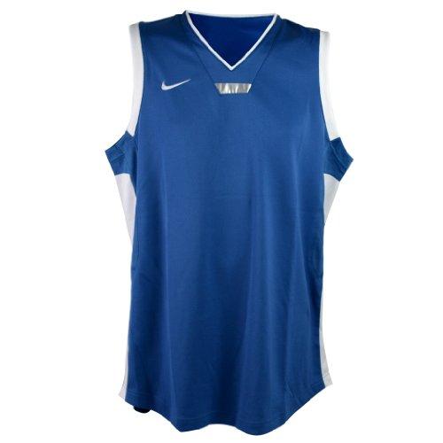 Nike Canotta da Basket Uomo Olympic Sleeve Less T-Shirt Blu-Bianco