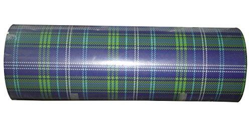 Woerner Geschenkpapier Muster Jura blau grün Rolle 250m x 50cm
