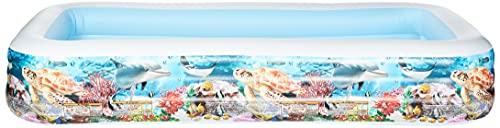 Scopri offerta per Intex- Piscina Family Pesci, Colore Bianco/Fantasia Marino, 305x183x56 cm, 58485