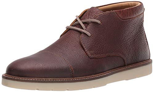 Clarks Mens Grandin Top Chukka Boot, Tan Tumbled Leather, 130 M US