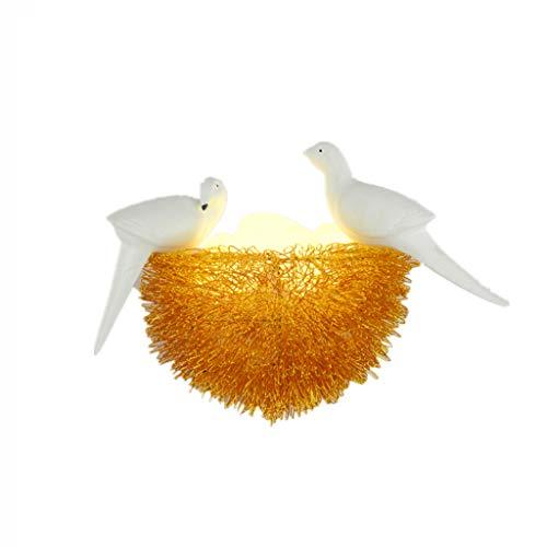 L&J&F Aplique Creativo Nido de Pájaro Sala de Estar Dormitorio Habitación de Niños Pasillo Aplique