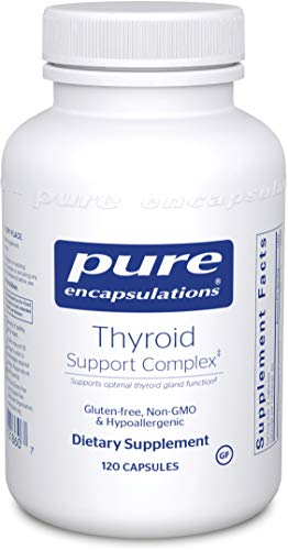Pure Encapsulations - Thyroid Support Complex - Hypoallergenic Supplement with Herbs and Nutrients for Optimal Thyroid Gland Function - 120 Capsules