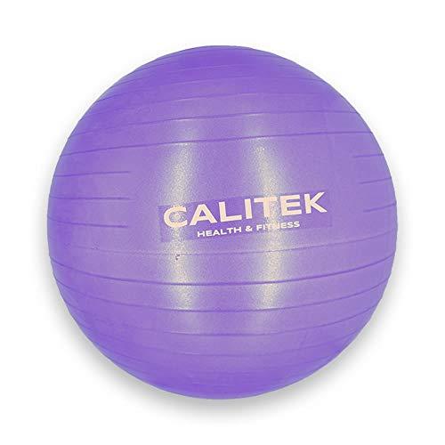 CALITEK - Pelota suiza para yoga, pilates, embarazo y nacimiento, morado, 55 cm