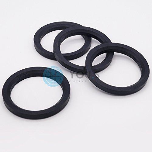 4 X Set anelli di centraggio cerchi in lega 56,1 mm 52,1 mm