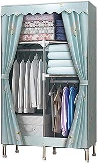 Armoire de Rangement Tissu Penderie Armoire Armoire Portable Simplicité Simplicité Toile Armoire Organisateur Vêtements Su...