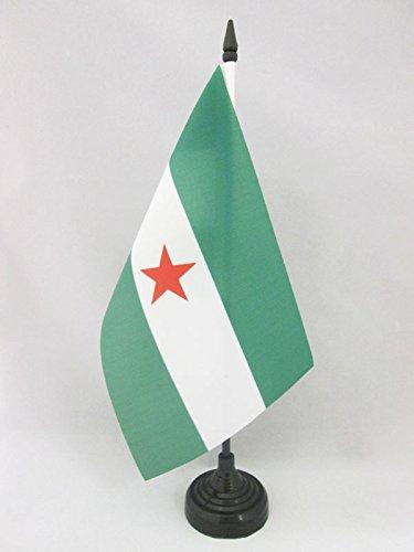 AZ FLAG Bandera de Mesa de Andalucia ARBONAIDA 21x14cm - BANDERINA de DESPACHO INDEPENDENTISTA ANDALUZA - NACIONALISMO Andaluz 14 x 21 cm