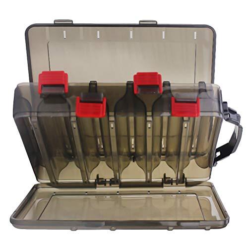 Wakauto Aufbewahrungsbox für Angelgerätezubehör Transparente Plastikköder für Angelköder Aufbewahrungsbox für Angelköderköderhaken Leichte Haltbare Verdickte Aufbewahrungsbox