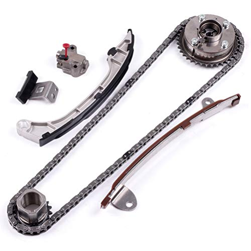 QUALINSIST Engine Timing Chain Kit Compatible with T-oyota CAMRY 2AR-FE 2.5 2.7 L-exus E300h Timing Chain Tensioner Gear Guide Rail HJ-05224-V