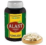 VITA IDEAL  Alant-Wurzel (Inula Helenium) 180 Kapseln je 520mg, aus rein natürlichen Kräutern, ohne Zusatzstoffe