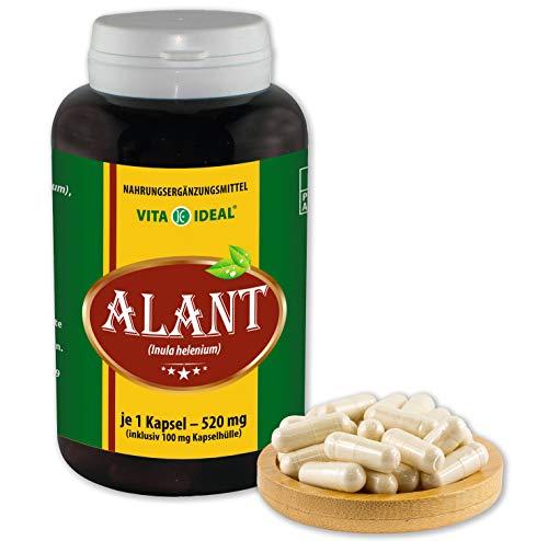 VITA IDEAL ® Alant-Wurzel (Inula Helenium) 180 Kapseln je 520mg, aus rein natürlichen Kräutern, ohne Zusatzstoffe
