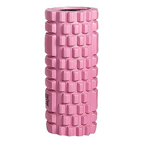 EasyChange フォームローラー 筋膜リリース グリッドフォームローラー ヨガポール (ピンク)