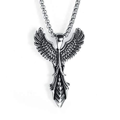 C- Collar de los Hombres - Acero Inoxidable Creativo alas Es