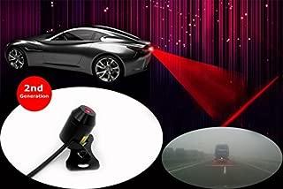 SWEON 12V Auto Red LED Car Laser Fog Lamp Universal Anti Collision Rear-end Car or Motorcycle Laser Tail Fog Light Waterproof Auto Brake Parking Lamp Rearing Warning Safety Light(1-Set)