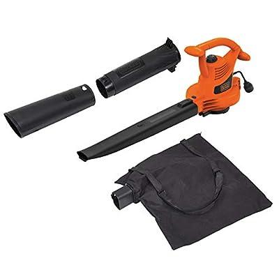BLACK+DECKER 3-in-1 Electric Leaf Blower, Leaf Vacuum, Mulcher, 12-Amp (BV3100)