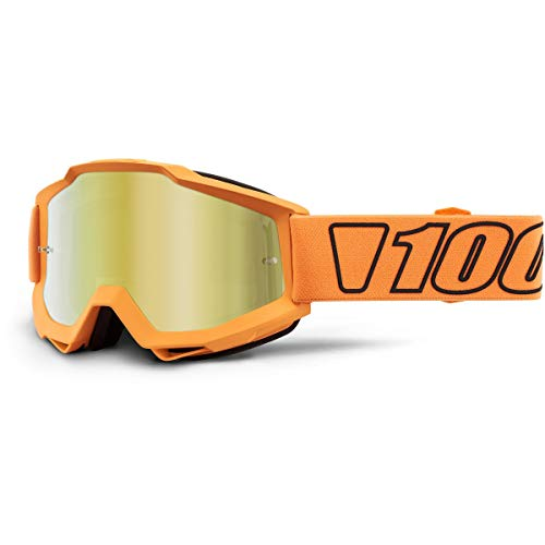 Mx Goggle 100 Percent The Accuri Gunmetal-Clear Lens Default , Nero