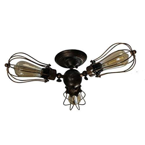 Plafondlamp, vintage, industrieel, draaibaar, halfrond, plafondlamp, roest, kleur draad, kooi, kroonluchter, hanglamp voor woonkamer, eetkamer, keuken