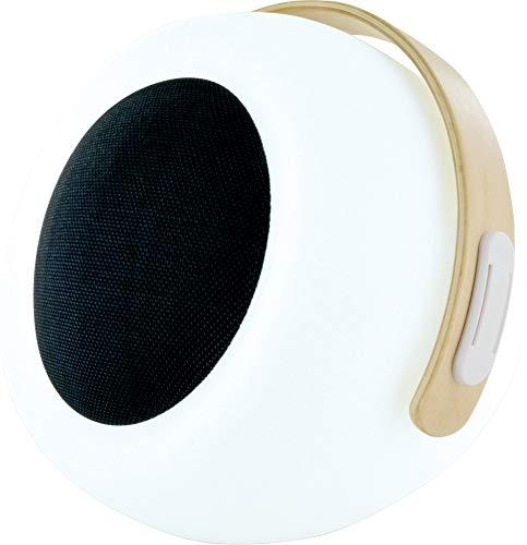 SCHWAIGER -661774- Lámpara de mesa LED con altavoz Bluetooth Altavoz de luz exterior Cambio de color RGB regulable a prueba de salpicaduras