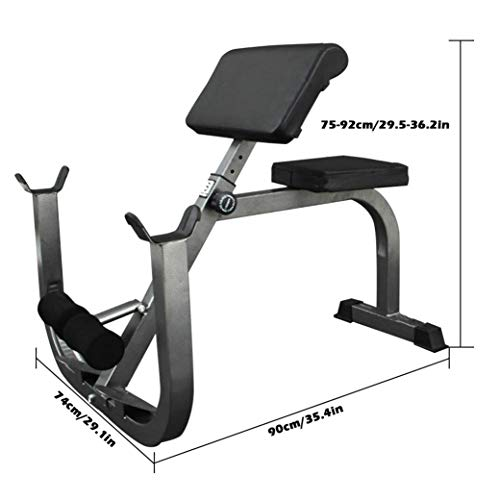 Max Load 330Lbs Roman Chair Weight Bench Arm Curl Weight Bench Preacher Curl Isolated Barbell Dumbbell Biceps Station