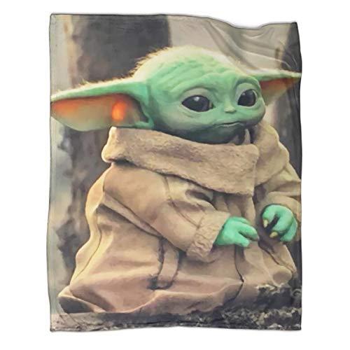 Mantas para sofá cama, silla, decoración de Star Wars The Mandalorian Baby Yoda Poster manta multiusos de 180 x 230 cm