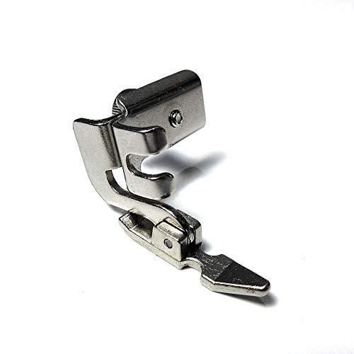 Pie de tubería de cordón de cremallera izquierda ajustable para máquinas de coser de vástago bajo